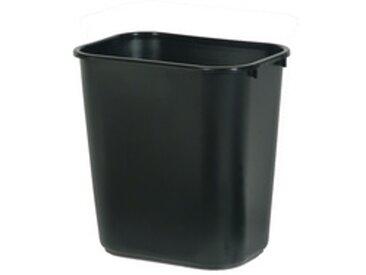 Corbeille à papier, 26,6 litres, PE, noir - Lot de 3
