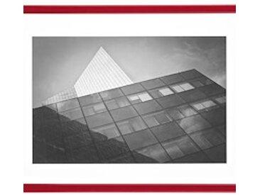 Cadre aluminium pour exposition - 50 x 70 cm rouge