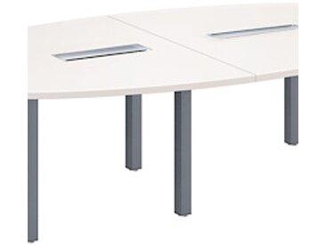Table de réunion modulaire blanc Exprim