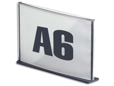 Plaque de porte format A6 coloris anthracite - Lot de 4