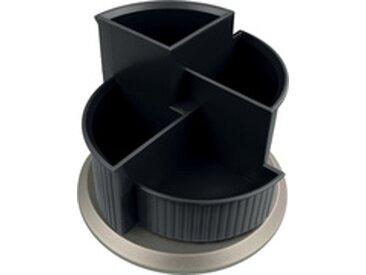Pot à crayons multifonction 'the hub line', noir - Lot de 2