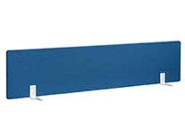 Panneaux écrans acoustiques L 180 cm bleu fixation blanche pour bureaux Bench