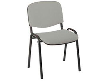 Chaise de conférence standard tissu - gris clair - Lot de 4