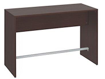 Table haute L 160 x P 70 wengué piétement plein 6 places Luego
