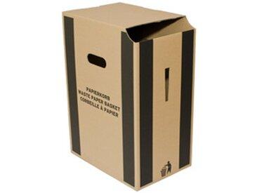Corbeille à papier en carton,35 litres, brun - Lot de 5