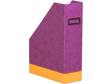 Rhodiarama Porte-revues 10x25x31 cm. - Violet - Lot de 2