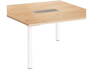 Table carrée chêne Exprim pieds blanc