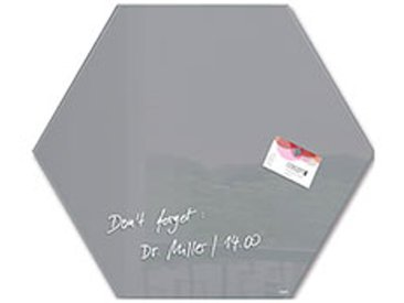 Tableau en verre hexagonal 40 x 46 cm - gris
