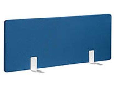 Panneaux écrans acoustiques L 120 cm bleu fixation blanche pour bureaux Bench