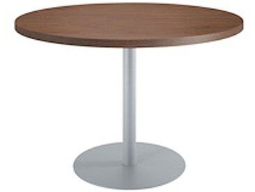 Table de réunion ronde noyer Ø 120 cm - piétement aluminium - Arch