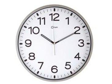 Horloge silencieuse à quartz D 30 cm silver