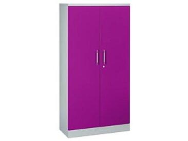 Armoire portes battantes couleurs fun H 180 cm - prune
