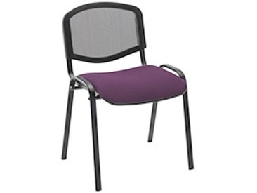 Chaise Conférence dossier maille assise violette