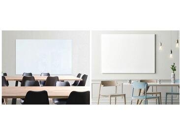 Tableau en verre design, 600 x 450 mm, blanc pur