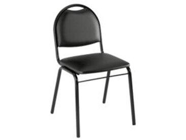 Chaise de réunion vinyle noir