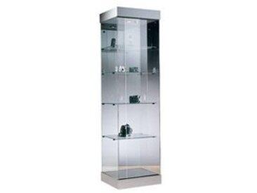 Vitrine colonne carrée Zenith aluminium