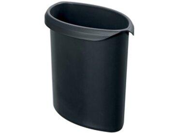 Insert pour corbeille à papier MOON, 6 litres, noir - Lot de 3