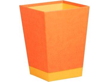 Rhodiarama Corbeille à papier 27x27x32 cm. - Tangerine - Lot de 2
