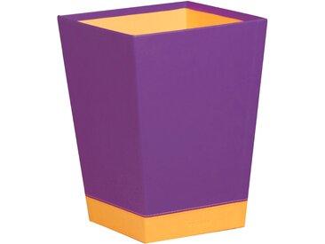 Rhodiarama Corbeille à papier 27x27x32 cm. - Violet - Lot de 2