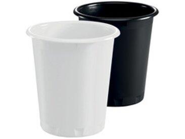 Corbeille à papier BASIC, plastique, 13 litres,blanc - Lot de 6
