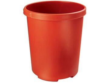 Corbeille à papier MOBIL XXL, 50 litres, PP, rond, rouge - Lot de 2