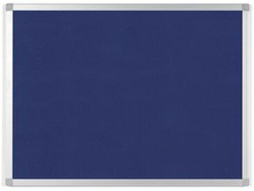 Tableau en feutre AYDA, 600 x 450 mm, bleu - Lot de 3