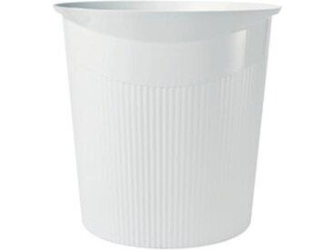Corbeille à papier LOOP, 13 litres, rond, blanc - Lot de 8