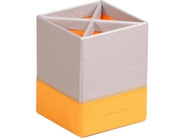 Rhodiarama Pot à crayons 8x8x11 cm. - Argent - Lot de 4