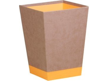 Rhodiarama Corbeille à papier 27x27x32 cm. - Taupe - Lot de 2