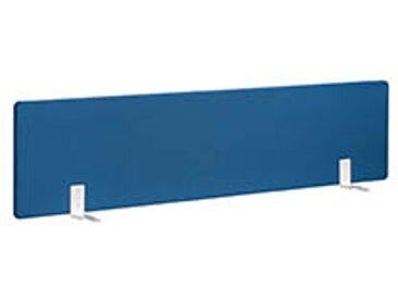 Panneaux écrans acoustiques L 160 cm bleu fixation blanche pour bureaux Bench