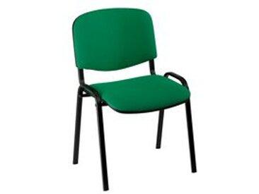 Chaise de conférence standard tissu - verte - Lot de 4