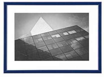 Cadre aluminium pour exposition - 30 x 40 cm bleu