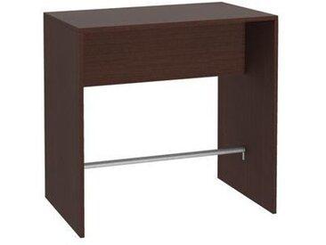 Table haute L 110 x P 70 wengué piétement plein 4 places Luego