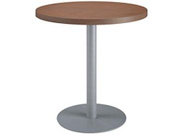 Table de réunion ronde noyer Ø 80 cm - piétement aluminium - Arch