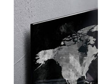 Tableau verre world map SIGEL 46 x 94 cm