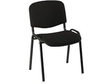 Chaise de conférence standard tissu - noir - Lot de 4