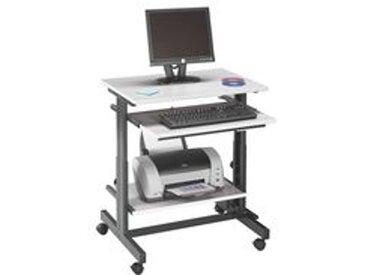 Station informatique compacte gris clair