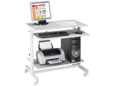 Station informatique confort gris clair