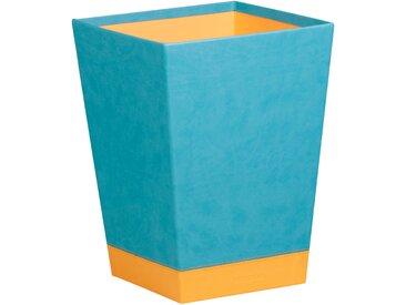 Rhodiarama Corbeille à papier 27x27x32 cm. - Turquoise - Lot de 2