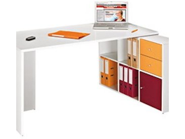Ensemble bureau Homeoffice 6 cases - blanc
