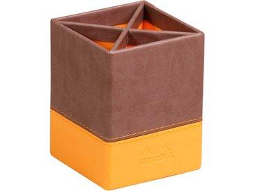Rhodiarama Pot à crayons 8x8x11 cm. - Chocolat - Lot de 4