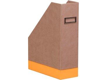 Rhodiarama Porte-revues 10x25x31 cm. - Taupe - Lot de 2