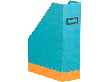 Rhodiarama Porte-revues 10x25x31 cm. - Turquoise - Lot de 2