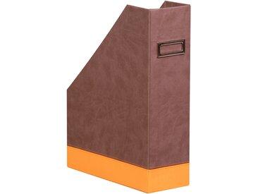 Rhodiarama Porte-revues 10x25x31 cm. - Chocolat - Lot de 2