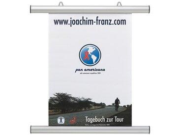 Profilé clipsable pour affiche, aluminium, argent - Lot de 2