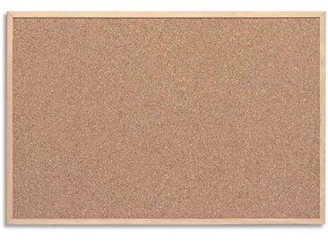 Tableau en liège cadre bois, fixation fournie, livré avec 6 épingles - Format : L60 x H40 cm - Lot de 4