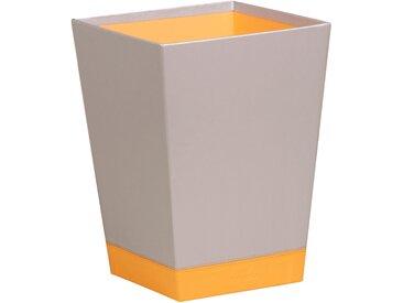 Rhodiarama Corbeille à papier 27x27x32 cm. - Argent - Lot de 2