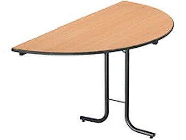 Table pliante classique 1/2 rond hêtre / noir
