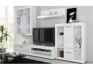 ENSEMBLE MEUBLE TV MURAL VIKI BLANC