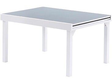 TABLE DE JARDIN EXTENSIBLE 6/10 COUVERTS BLANC & GRIS - MODULO